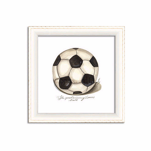 Soccer Art Framed Print