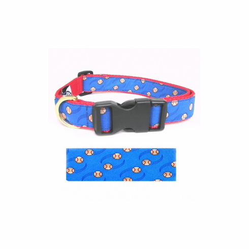 Sports Dog Blue Baseball Collars