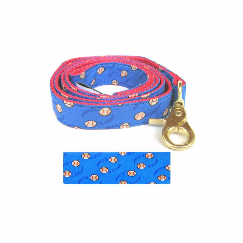 Sports Dog Blue Baseball Leash
