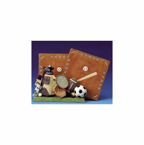 Square Sports Coaster Set with Base