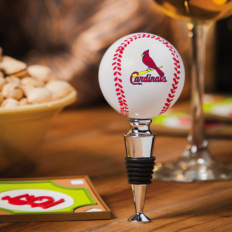 St. Louis Cardinals Baseball Bottle Stopper<br>ONLY 2 LEFT!