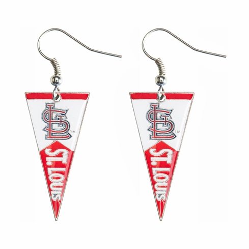 St. Louis Cardinals Baseball Pennant Earrings<br>LESS THAN 6 LEFT!
