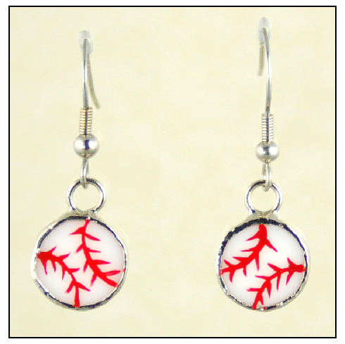 $3 $5 $7 SALE!<br>Stained Glass Baseball Earrings