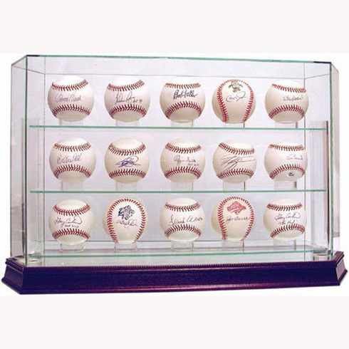 Steiner 15-Ball Glass Baseball Display Case
