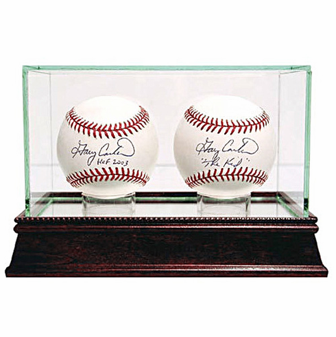 Steiner Double Ball Glass Baseball Display Case