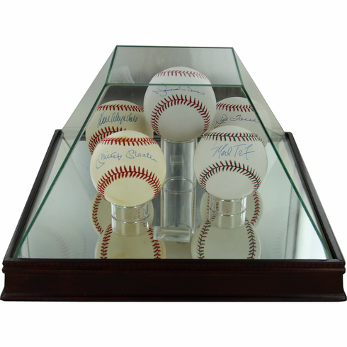 Steiner Pyramid 5-Ball Glass Baseball Display Case