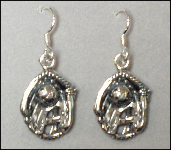 Sterling Silver Ball in Glove Earrings