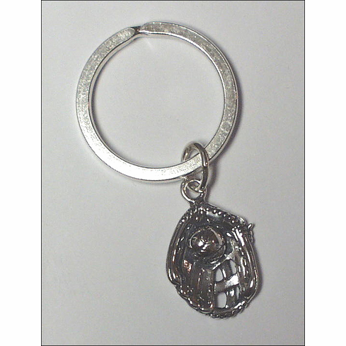 Sterling Silver Ball in Glove Key Chain