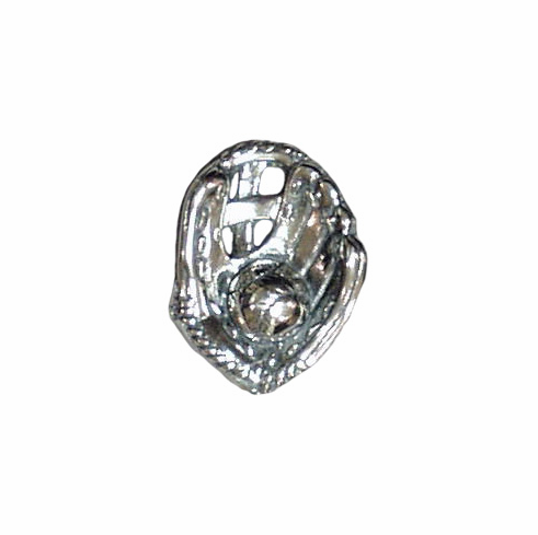 Sterling Silver Baseball in Glove Tie Tack<br>LESS THAN 10 LEFT!