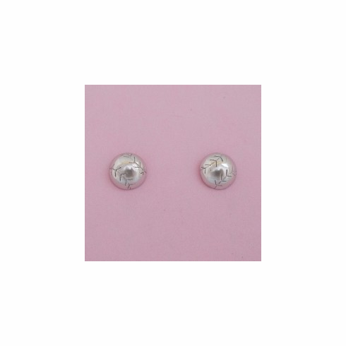 Sterling Silver Baseball / Softball Stud Earrings