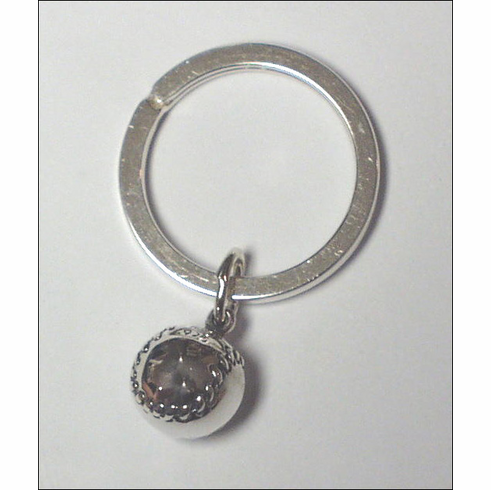 Sterling Silver Round Baseball Key Chain<br>ONLY 1 LEFT!