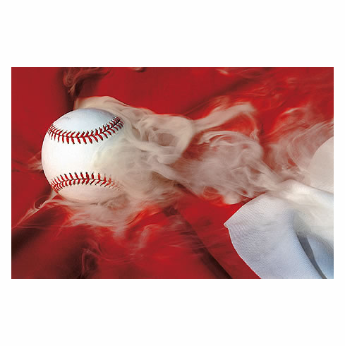 Still Smokin' Baseball Art Poster<br>ONLY 1 LEFT!