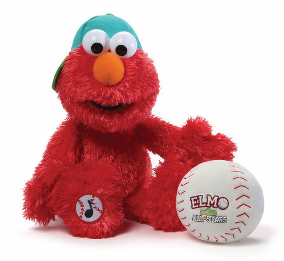 "Take Me Out to the Ball Game Singing Elmo 13"" Baseball Player by Gund"