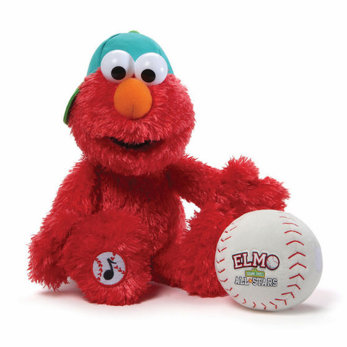 "Take Me Out to the Ball Game Singing Elmo 13"" Baseball Player by Gund<br>ONLY 1 LEFT!"