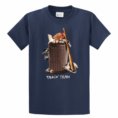 Talkin' Trash Baseball T-Shirt<br>Choose Your Color<br>Youth Med to Adult 4X