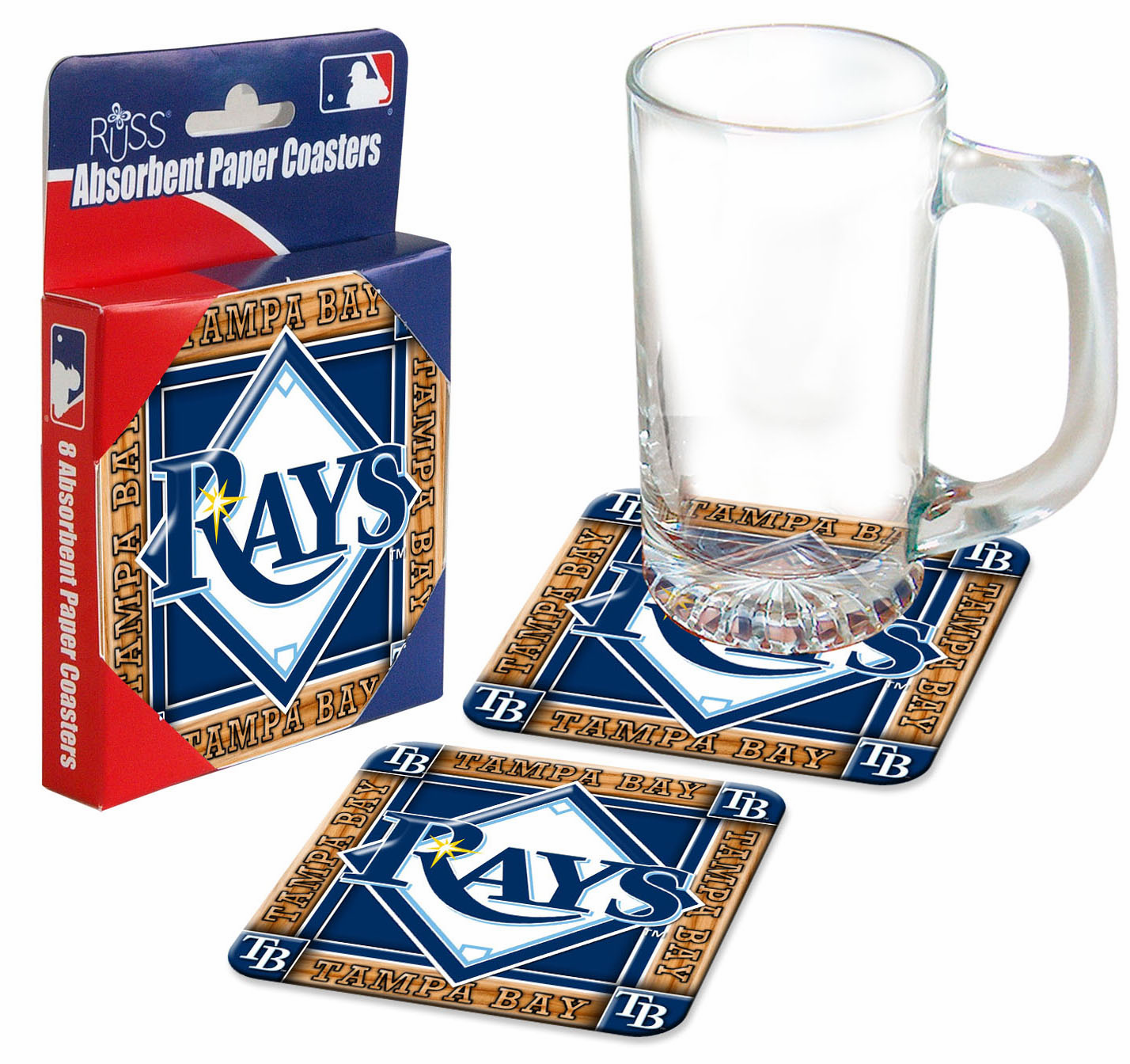 Tampa Bay Rays Absorbent Paper Coaster Set