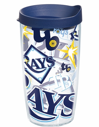 Tampa Bay Rays All Over Wrap Set of Cups with Lids by Tervis