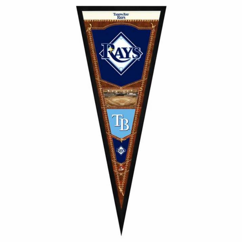 Tampa Bay Rays Framed Pennant Sign