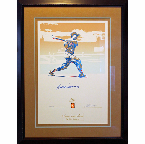 Ted Williams Autographed Gold Beninati Custom Framed Limited Edition 99<br>ONLY 2 LEFT!