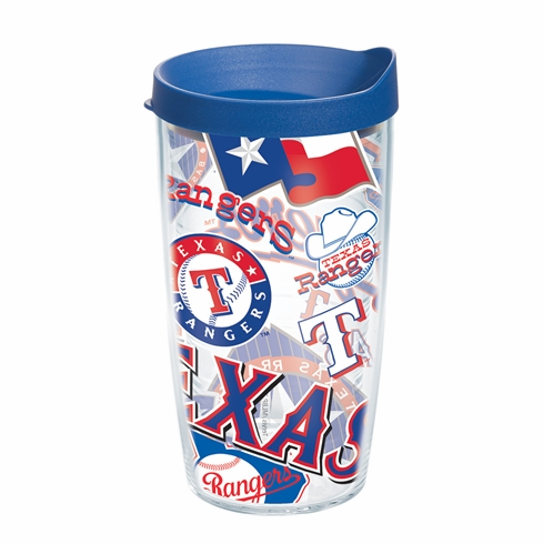Texas Rangers All Over Wrap Set of Cups with Lids by Tervis