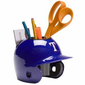 Texas Rangers Baseball Helmet Desk Caddy<br>ONLY 3 LEFT!
