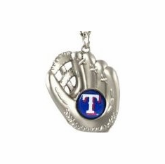 Texas Rangers Sculpted Baseball Glove Key Chain