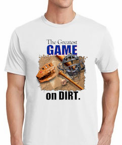 The Greatest Game on Dirt Baseball T-Shirt<br>Choose Your Color<br>Youth Med to Adult 4X