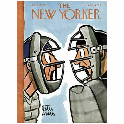 The New Yorker Bottom of the Ninth Catcher and Umpire 500pc Jigsaw Puzzle