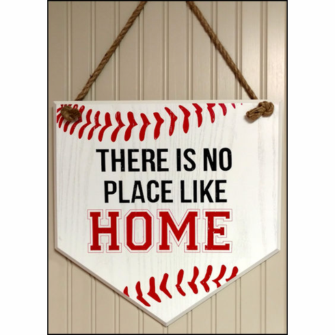 There Is No Place Like Home Wood Sign