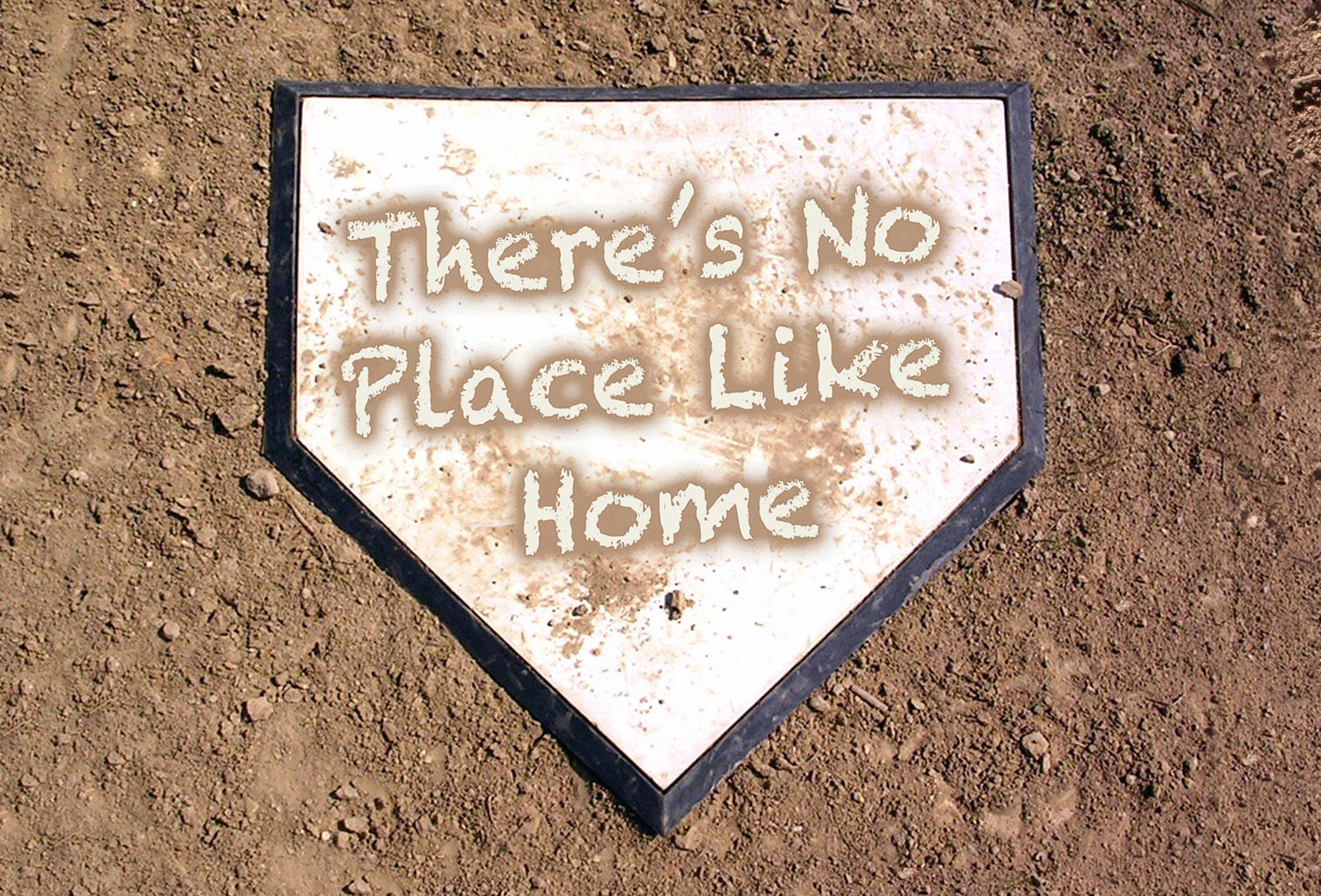 There's No Place Like Home Dirty Home Plate Baseball Doormat<br>LESS THAN 6 LEFT!