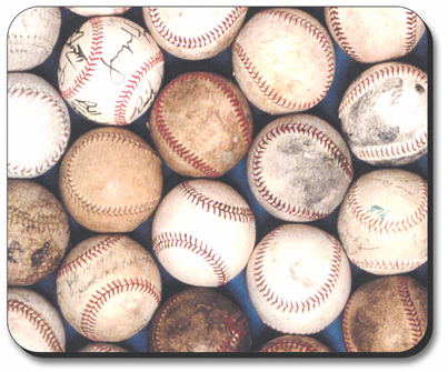 Throwback Baseballs Mouse Pad