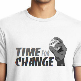 Time for Change Baseball T-Shirt<br>Choose Your Color<br>Youth Med to Adult 4X