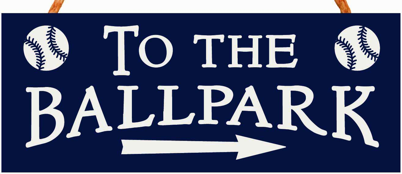 WEEKLY SPECIAL #10<br>To The Ballpark 4x10 Rope Hanging Sign