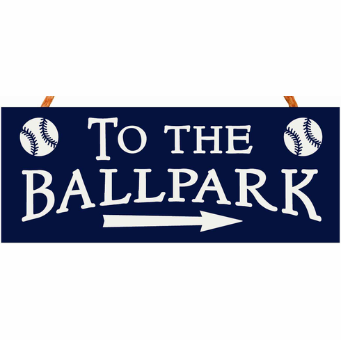 To The Ballpark 4x10 Rope Hanging Sign