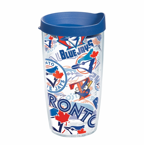 Toronto Blue Jays All Over Wrap Set of Cups with Lids by Tervis