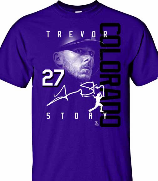 Trevor Story COLORADO Signature T-Shirt<br>Short or Long Sleeve<br>Youth Med to Adult 4X