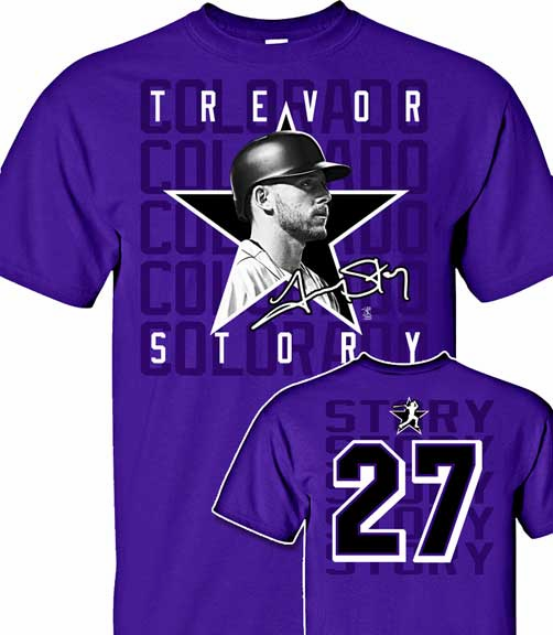 Trevor Story Star Power T-Shirt<br>Short or Long Sleeve<br>Youth Med to Adult 4X
