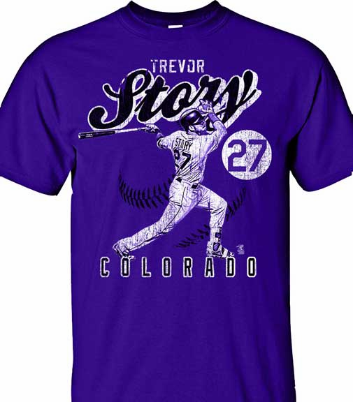 Trevor Story Vintage T-Shirt<br>Short or Long Sleeve<br>Youth Med to Adult 4X