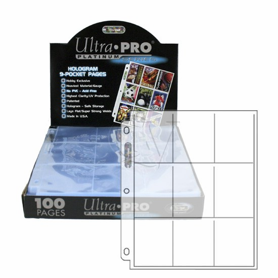 Ultra Pro Platinum Baseball Card Pages 100ct