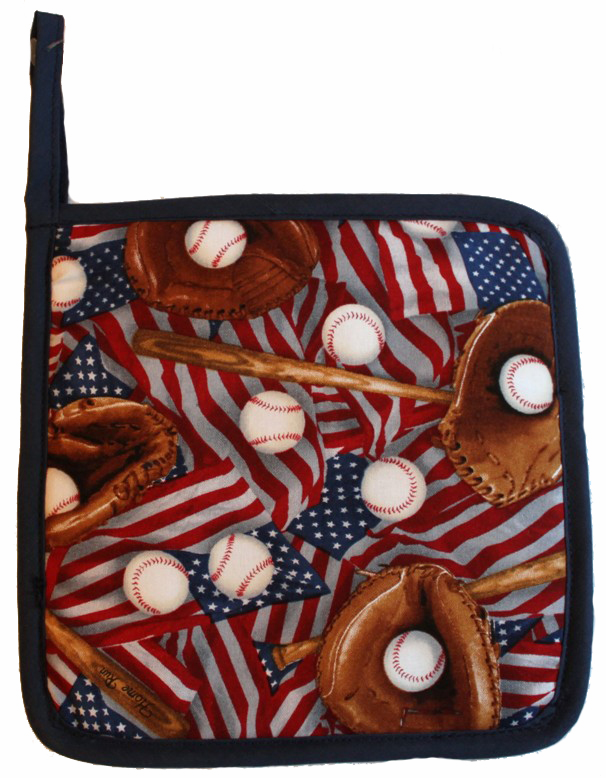 USA Baseball Pot Holder