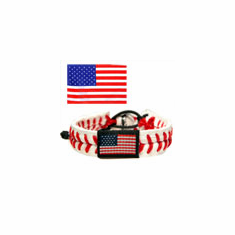 USA Flag<br>Baseball Seam Bracelet