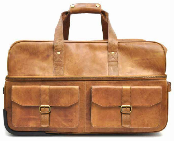 "WEEKLY SPECIAL #14<br>Vintage Baseball Glove Leather 22"" Rugged Wheeled Travel Duffel Bag by Rawlings"