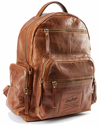 Vintage Baseball Glove Leather Rugged Backpack by Rawlings