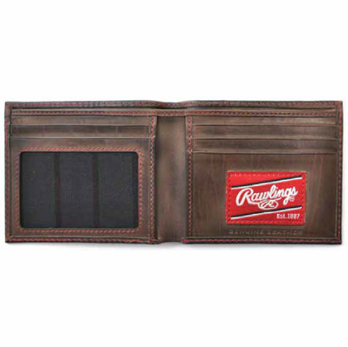 WEEKLY SPECIAL #2<br>Vintage Leather Two Strikes Bifold Baseball Wallet by Rawlings<br>LESS THAN 6 LEFT!