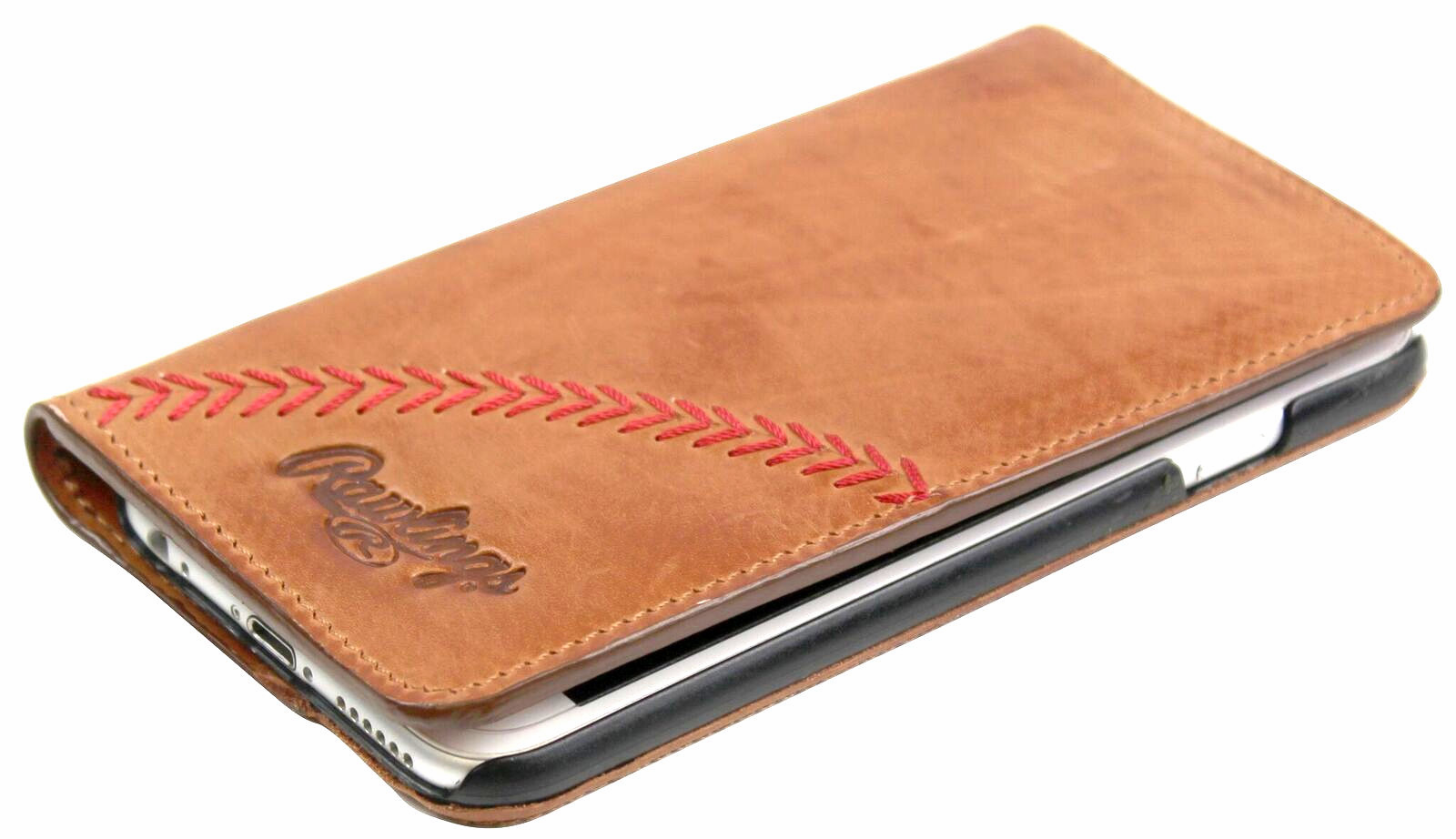 Vintage Tan Leather Baseball Stitch iPhone 6 or 7 Case by Rawlings