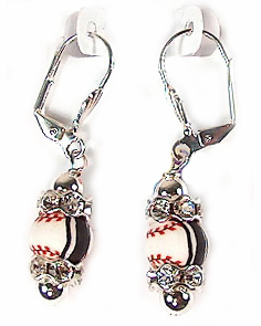 Viva Beads Baseball Earrings