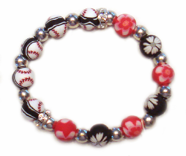 Viva Beads Girls Baseball Bracelet