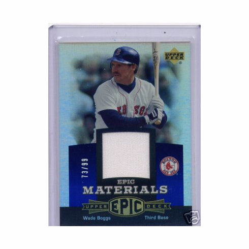 Wade Boggs 2006 UD Epic Game Used Jersey 73/99