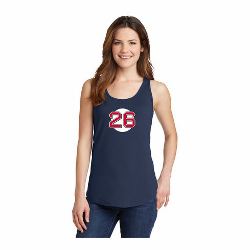 Wade Boggs #26 Ladies T-Shirt<br>Choose Your Color<br>Tank, V-Neck, or Crew<br>Ladies XS-4X