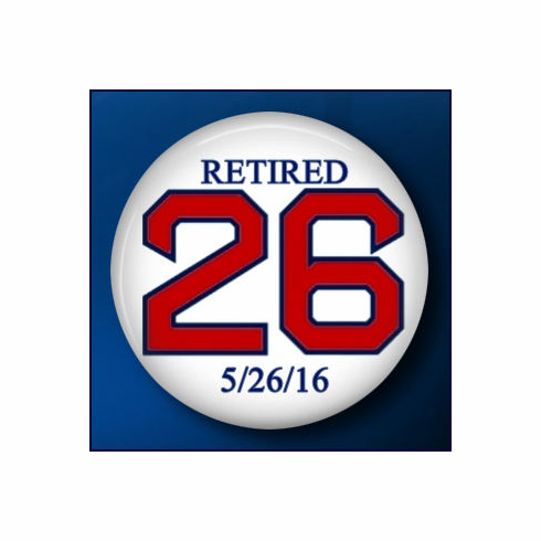 Wade Boggs #26 Set of 10 Collectible Button Pins